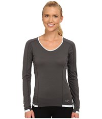 Arc'teryx Motus Crew L S Iron Anvil Zircon Women's Long Sleeve Pullover Gray