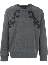 Christian Pellizzari Embroidered Detail Sweatshirt Grey