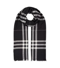 Burberry Shoes And Accessories Gauze Giant Check Scarf Female Navy