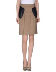 Marios Schwab Knee Length Skirts Camel