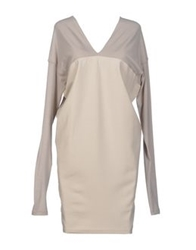 Paolo Errico Short Dresses Dove Grey