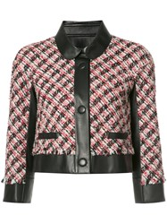 Paule Ka Paneled Tweed Jacket Black
