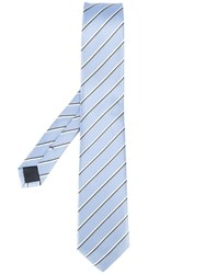 Hugo Boss Diagonal Stripe Tie Blue