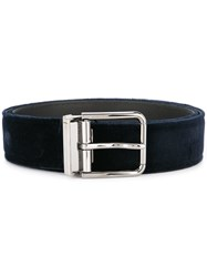 Dolce And Gabbana Buckle Belt Blue