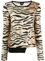 Giambattista Valli Tiger Print Jumper Neutrals