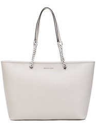 Michael Michael Kors Jet Set Tote Women Leather Metal One Size Nude Neutrals