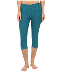 Prana Misty Knicker Cast Blue Jacquard Women's Capri Green