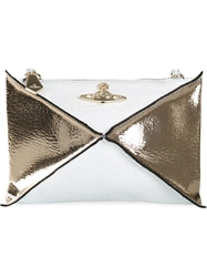 Vivienne Westwood 'Nefertitti' Small Cross Body Bag White