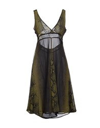 We Are Replay Dresses Knee Length Dresses Women Military Green