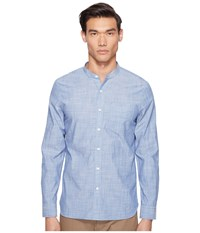 Jack Spade Chambray Stripe Band Collar Shirt Blue