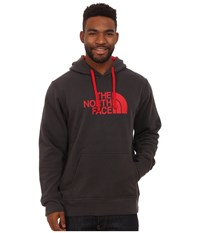 The North Face Half Dome Hoodie Asphalt Grey Tnf Red Men's Long Sleeve Pullover