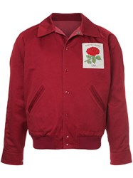Kent And Curwen Rose Patch Bomber Jacket Red