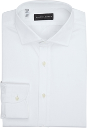 Ralph Lauren Black Label Solid Dress Shirt White