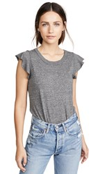 Chaser Flutter Sleeve Shirttail Tee Streaky Grey