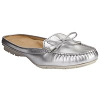 John Lewis Giana Mule Loafers Silver