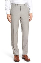 Men's Ted Baker London 'Jefferson' Flat Front Solid Wool Trousers