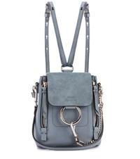 Chloe Faye Mini Leather Backpack Blue