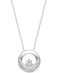 Macy's Diamond Circle Pendant Necklace 1 5 Ct. T.W. In 14K White Gold