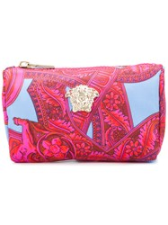 Versace Baroccoflage Make Up Bag Nylon Pink Purple