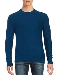 Michael Kors Textured Crewneck Sweater Pacific Blue