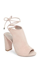 Kenneth Cole Women's New York Darla Block Heel Sandal Rose Suede