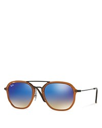 Ray Ban Gradient Round Sunglasses 52Mm Brown