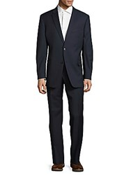 Tommy Hilfiger Textured Wool Suit Blue