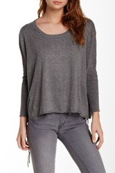 Voom By Joy Han Side Lace Up Sweater Gray
