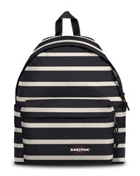 Eastpak White Black Striped Padded Pak'r Backpack