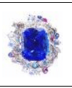 Anna Hu Haute Joaillerie Siren's Aria Collection Siren's Aria Ring In Tanzanite Blue