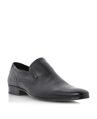 Howick Research Plain Vamp Elasticated Loafers Black