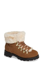 Jack Rogers Charlie Faux Shearling Lined Bootie Oak Suede