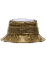 Natasha Zinko Emoji Bucket Hat Grey Golden Lilac