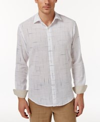 Tasso Elba Men's Long Sleeve Texture Print Shirt Only At Macy's Lavender Combo