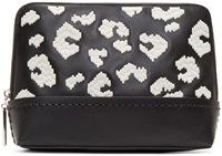 3.1 Phillip Lim Black Embroidered 31 Minute Cosmetic Pouch