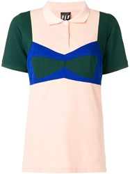 Pam P.A.M. Bow Detail Polo Shirt Nude And Neutrals