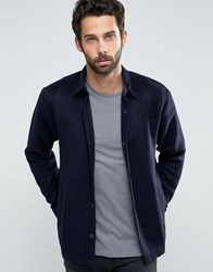Only And Sons Wool Coach Jacket Dark Navy