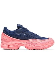 Raf Simons Adidas By Pink And Blue Ozweego Leather Sneakers