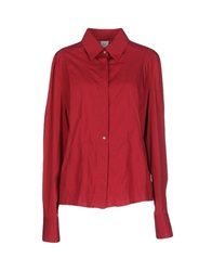 Gattinoni Jeans Shirts Brick Red