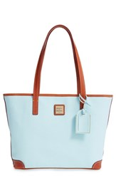 Dooney And Bourke 'Charleston Pebble Grain Collection' Water Resistant Tumbled Leather Shopper Blue Pale Blue