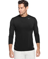 Nike T Shirt Pro Combat Dri Fit Fitted Long Sleeve Tee Black