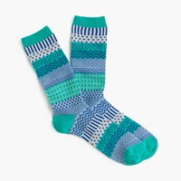 J.Crew Wintry Fair Isle Trouser Socks Classic Emerald