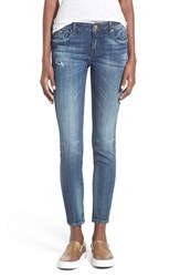 Junior Women's Vigoss Distressed Skinny Jeans Dark Wash