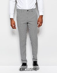 Reclaimed Vintage Trousers In Dogtooth Black