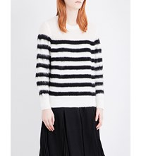 Izzue Striped Knitted Jumper White Black