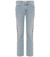 Etoile Isabel Marant Colan Embroidered Jeans Blue