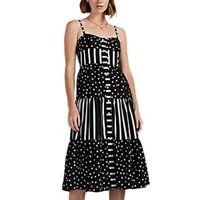 Solid And Striped Polka Dot Maxi Dress Multi