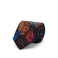 Paul Smith Bears And Planets Silk Necktie Black