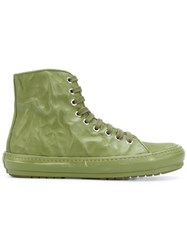 Both Crinkle Lace Up Boot Men Horse Leather Leather Rubber 42 Green