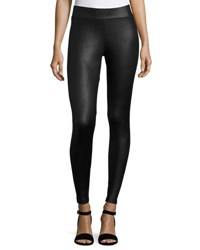 Matty M Faux Leather Front Leggings Black